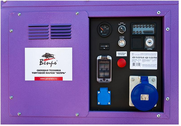 Панель управления бензогенератора Robin Subaru